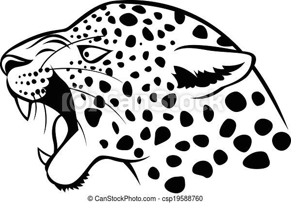 Leopard head icon - csp19588760