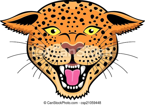 Leopard head icon - csp21059448