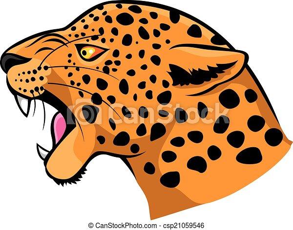 Leopard head icon - csp21059546