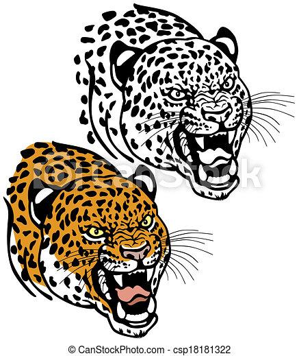 leopard head - csp18181322