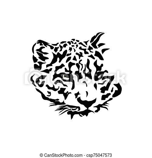 Leopard head logo - csp75047573
