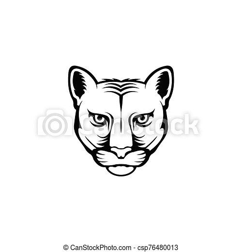 Leopard head logo - csp76480013