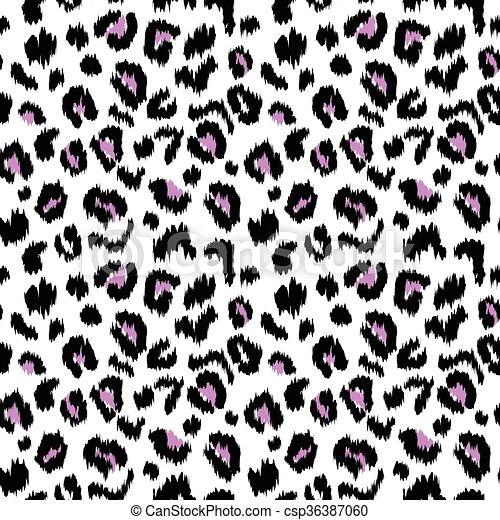 leopard print vector seamless pattern texture illustration clip art rh canstockphoto com leopard print border clip art animal print letters clip art