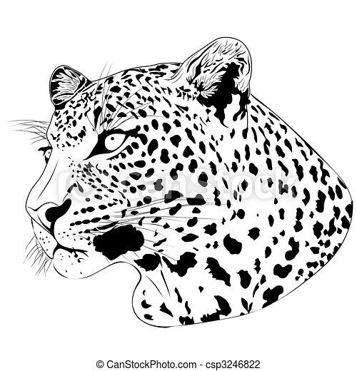 Leopard, tattoo - csp3246822