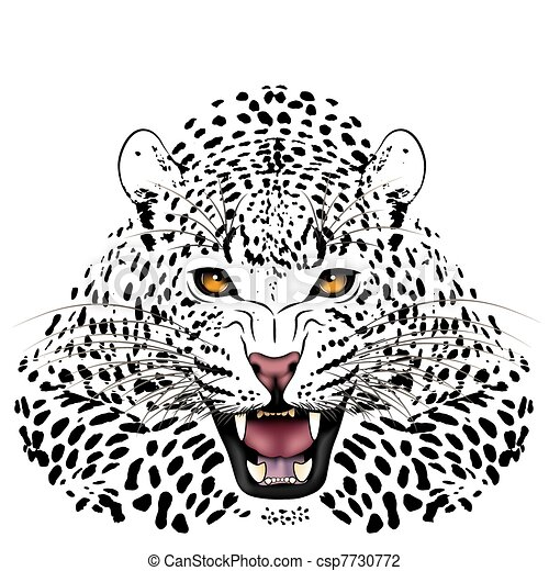 Leopard, tattoo - csp7730772