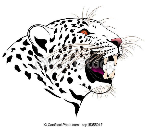 74a2120a9 Leopard. Vector leopard executed in the form of a tribal tattoo.