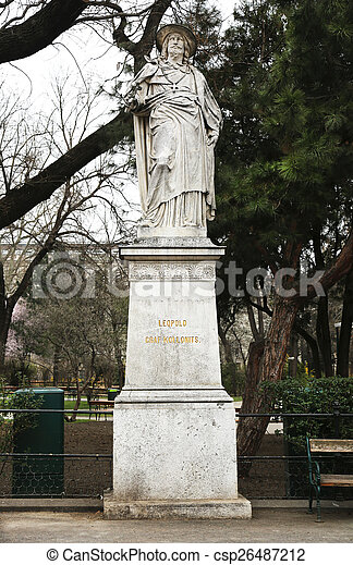 Leopold Graf Kollonits Statue - csp26487212