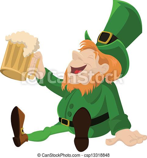 leprechaun, ビール - csp13318848