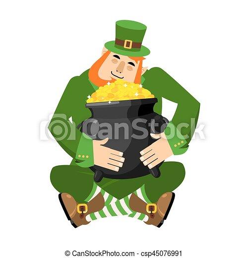 leprechaun and pot of gold my precious st patrick s day