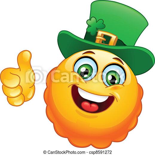 Leprechaun emoticon - csp8591272