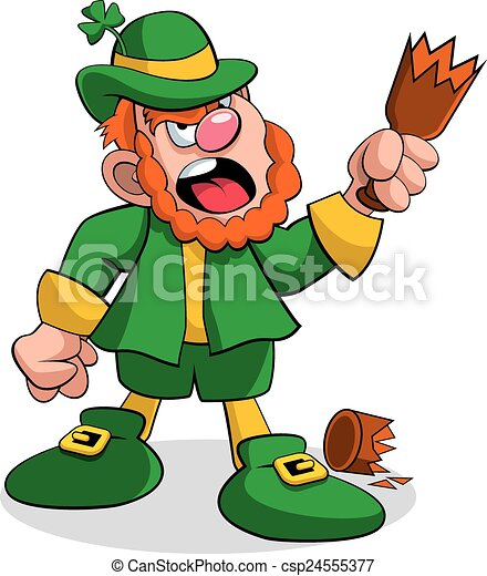 Leprechaun fighting a vector illustration of a leprechaun leprechaun fighting csp24555377 altavistaventures Choice Image
