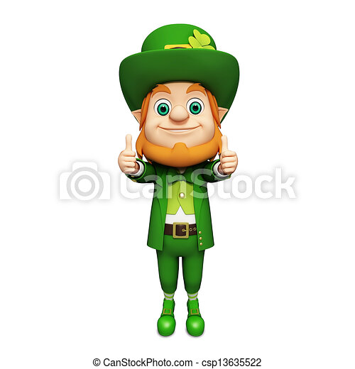 3d rendered illustration of leprechaun for st patrick s day clip art rh canstockphoto com free leprechaun clipart images free leprechaun clipart black and white