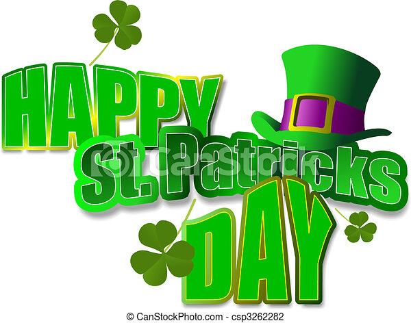 Leprechaun Hat. St. Patrick. Vector illustration - csp3262282
