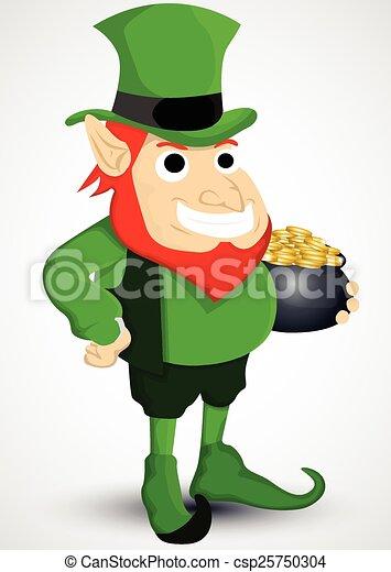 leprechaun with a pot of gold