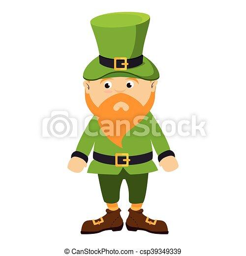 leprechhaun irish hat beard green costume - csp39349339  sc 1 st  Can Stock Photo & Leprechhaun irish hat beard green costume. Leprechaun irish hat bear ...