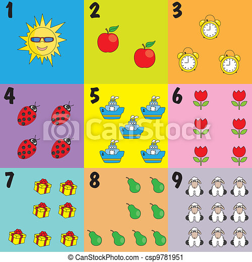 ler, crianças, aprendizagem, ícones - csp9781951