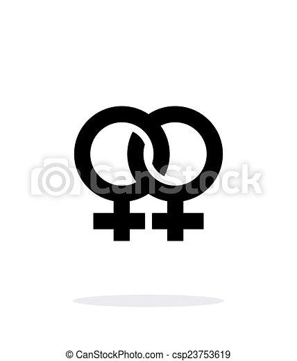 Lesbian icon on white background. - csp23753619