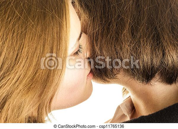 Sweet lesbian kisses