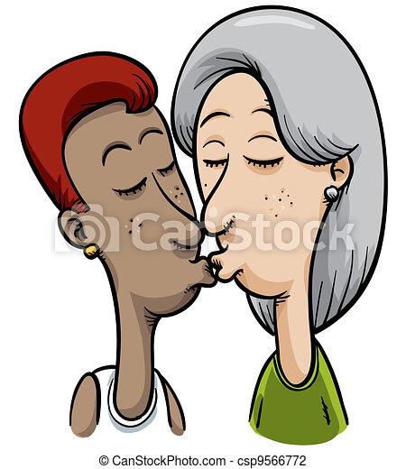 Lesbisk kyss bilder