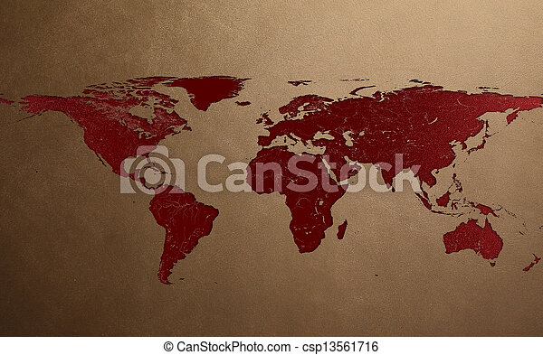 Lesion in leather texture of world map stock photography search lesion in leather texture of world map csp13561716 gumiabroncs Gallery
