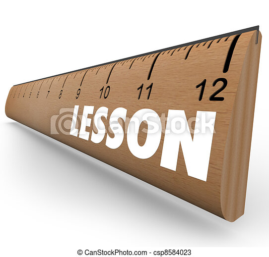 lesson word on ruler teach message education csp8584023