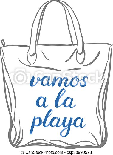 Let s go to the beach lettering. - csp38990573