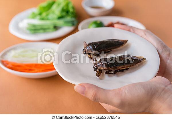 Lethocerus indicus (Giant water bug) - csp52876545