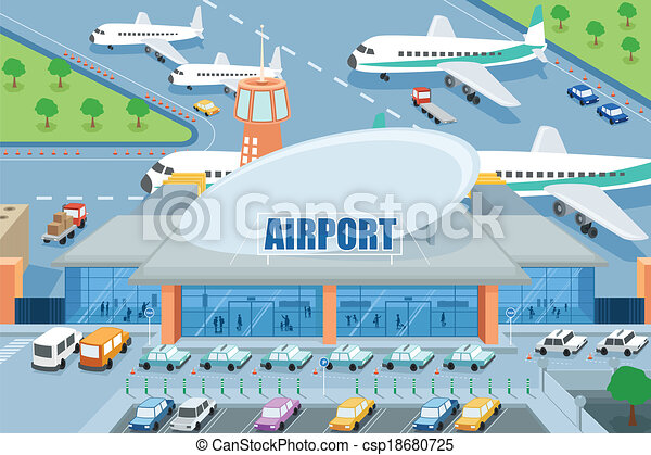 letiště, mimo - csp18680725