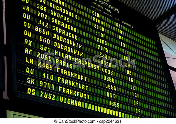 letiště, vystavit - csp2244631