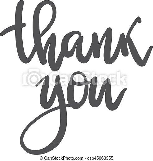 Letras, agradecer, impresiones, inscription., tipografía, mano ...