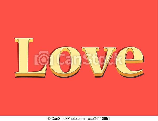 Lettering LOVE - csp24110951