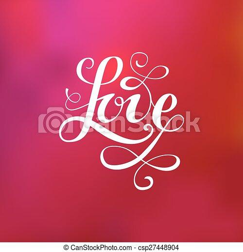 letras, amor - csp27448904