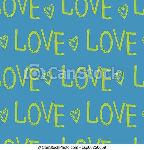 letras, amor, mano - csp68250659
