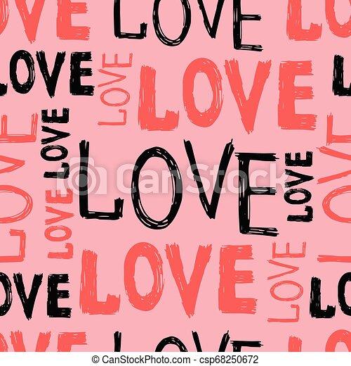letras, amor, mano - csp68250672