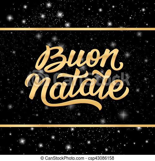 Banner con Feliz Navidad en italiano - csp43086158