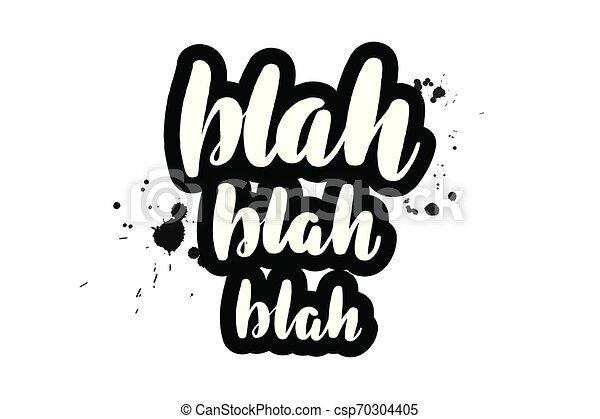 Lettering blah blah - csp70304405