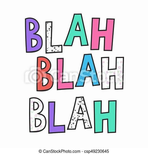 Bla cito letra de tipografía - csp49230645