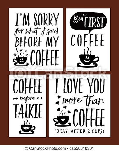 Diversión De Tiempo De Café Con Frases De Vectores