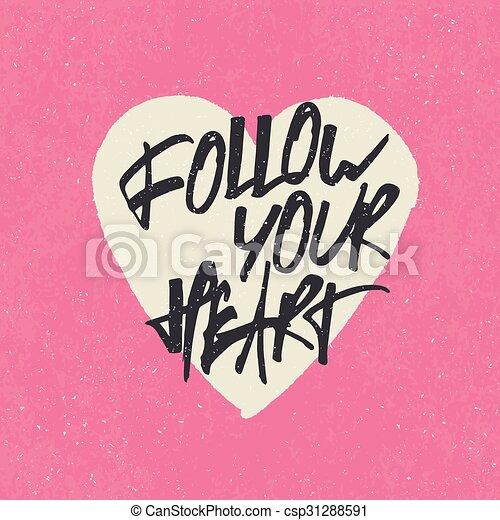 Letras Corazón Heart Cita Follow Forma Inspirador