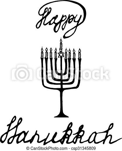 Letras, empate, estrella, regalo, impresiones, hanukkah, mano ...