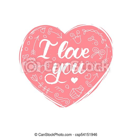 Letras Febrero Amor 14 You Valentines Tipografia Mano