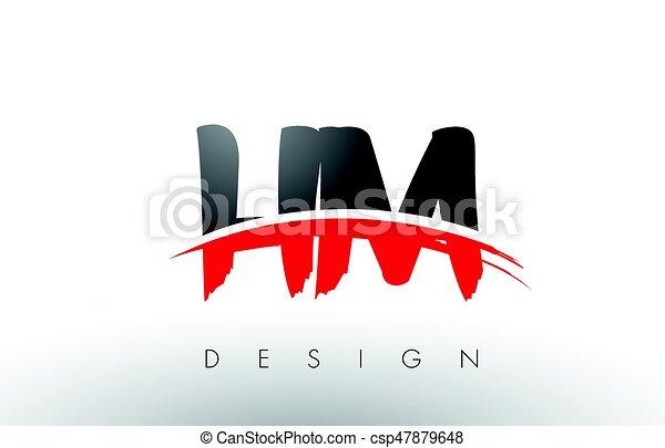Letras h hm m pretas escova swoosh frente logotipo vermelho letras h hm m pretas escova swoosh frente stopboris Image collections