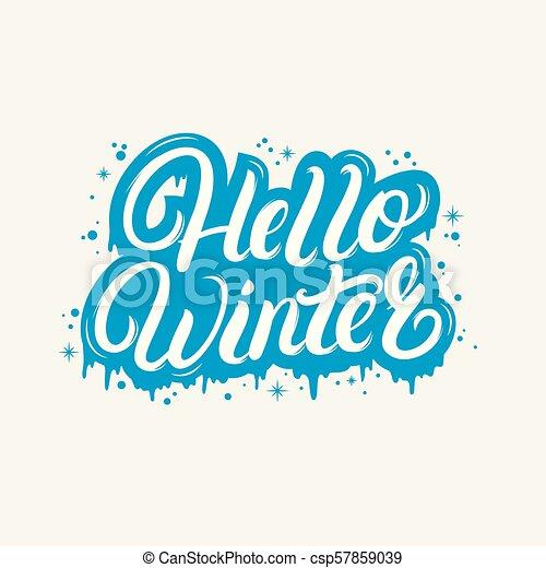 Hola Letra Escrita Con Letra De Winter Para Invitación
