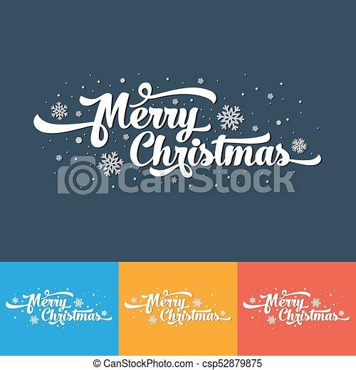 Texto De Vectores En Color Feliz Navidad Por Invitación Y