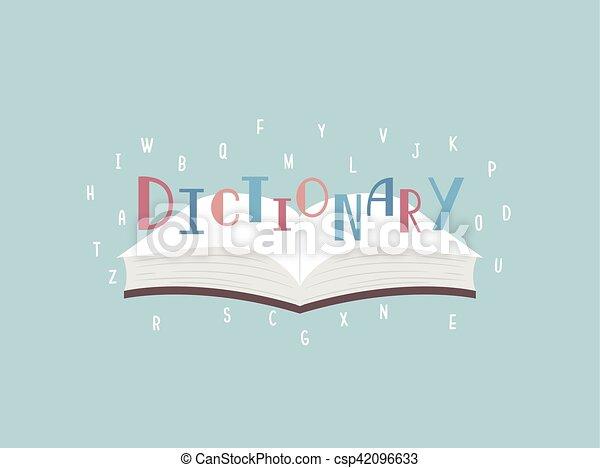 Carta de diccionario de libros - csp42096633