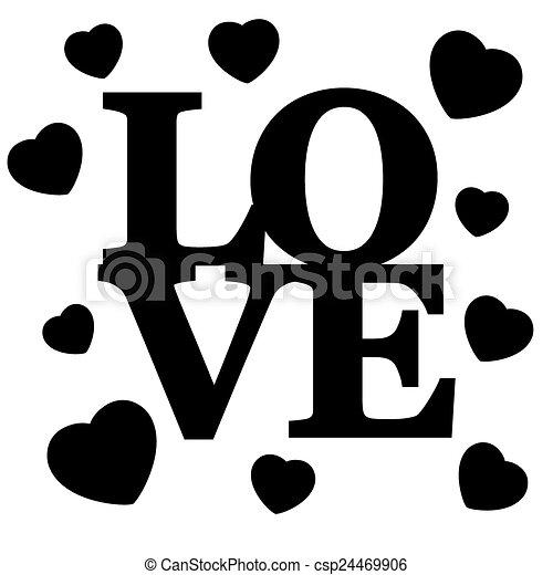 letras, love. - csp24469906