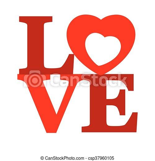 letras, love. - csp37960105