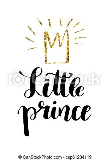 Escribiendo A Mano Citando Al Pequeño Príncipe Con Corona De