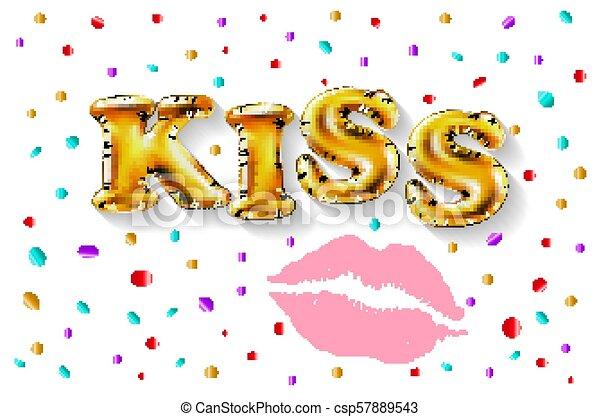 Letras Romance Dorado Amor Globo Text Ilustracion Etiqueta