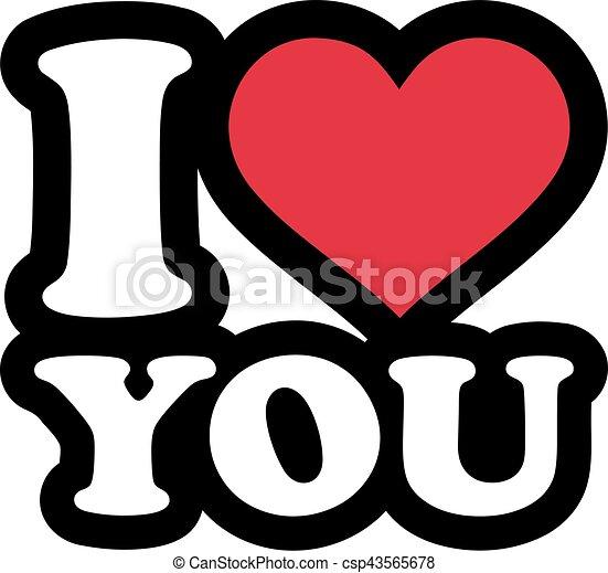 Ilustracin vectorial de letras usted  amor caricatura  I